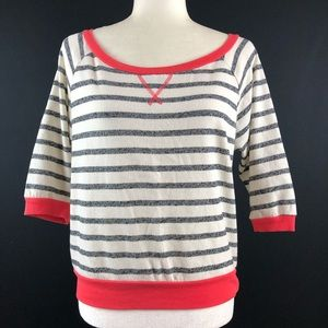 One Clothing Striped French Terry Sweater